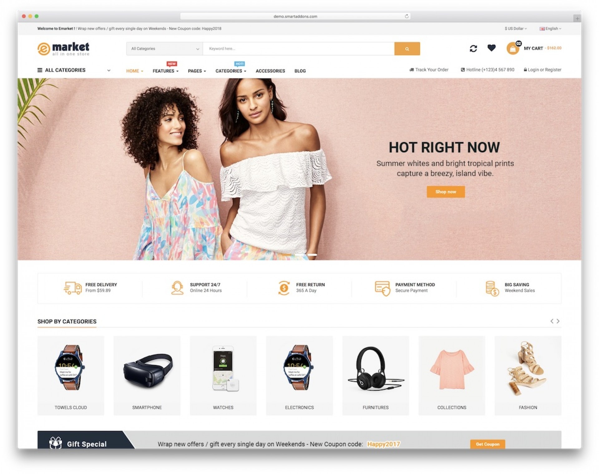005 Striking Free E Commerce Website Template High Def  Ecommerce Html Cs Bootstrap Php1920