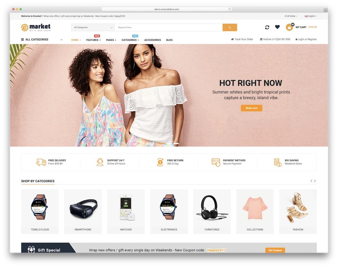 005 Striking Free E Commerce Website Template High Def  Ecommerce Html Cs Bootstrap PhpFull