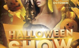 005 Striking Free Halloween Party Flyer Template Image  Templates