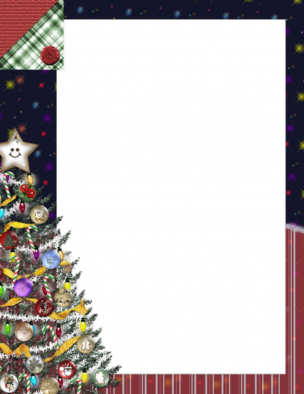 005 Striking Free Holiday Stationery Template For Word Idea Large