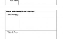 005 Striking Free Lesson Plan Template Idea  Templates Editable For Preschool Google Doc