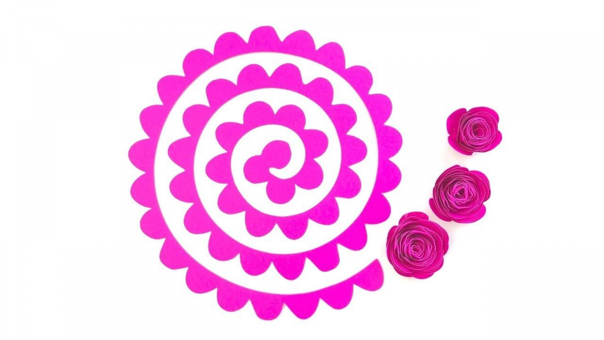 005 Striking Free Printable Diy Paper Flower Template Photo  Templates1920