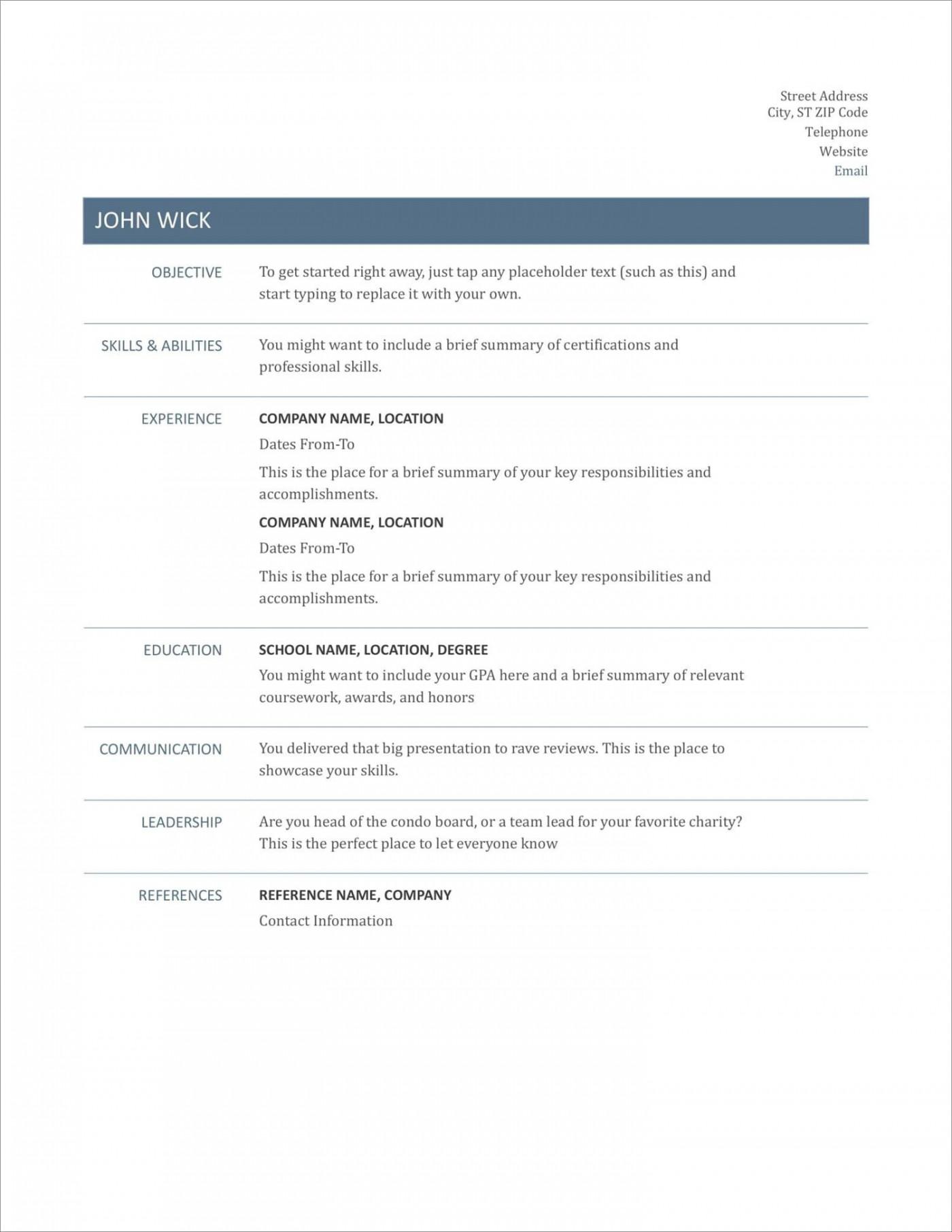 005 Striking Free Printable Resume Template Australia Photo 1400