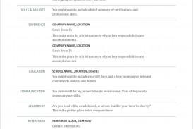 005 Striking Free Printable Resume Template Australia Photo