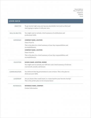 005 Striking Free Printable Resume Template Australia Photo 360
