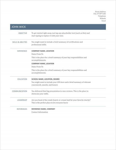 005 Striking Free Printable Resume Template Australia Photo 480