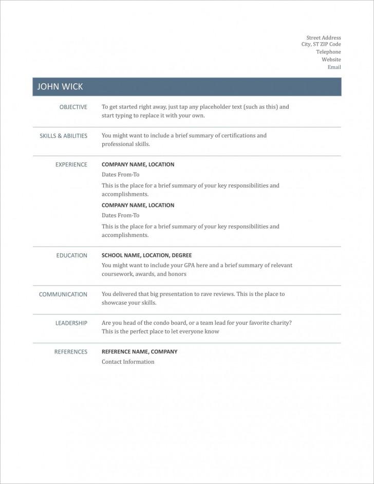 005 Striking Free Printable Resume Template Australia Photo 728
