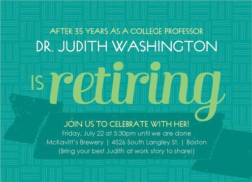 005 Striking Free Retirement Reception Invitation Template High Resolution  TemplatesFull