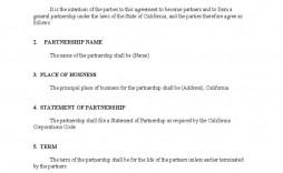 005 Striking General Partnership Agreement Template High Def  Word Canada Sample Free