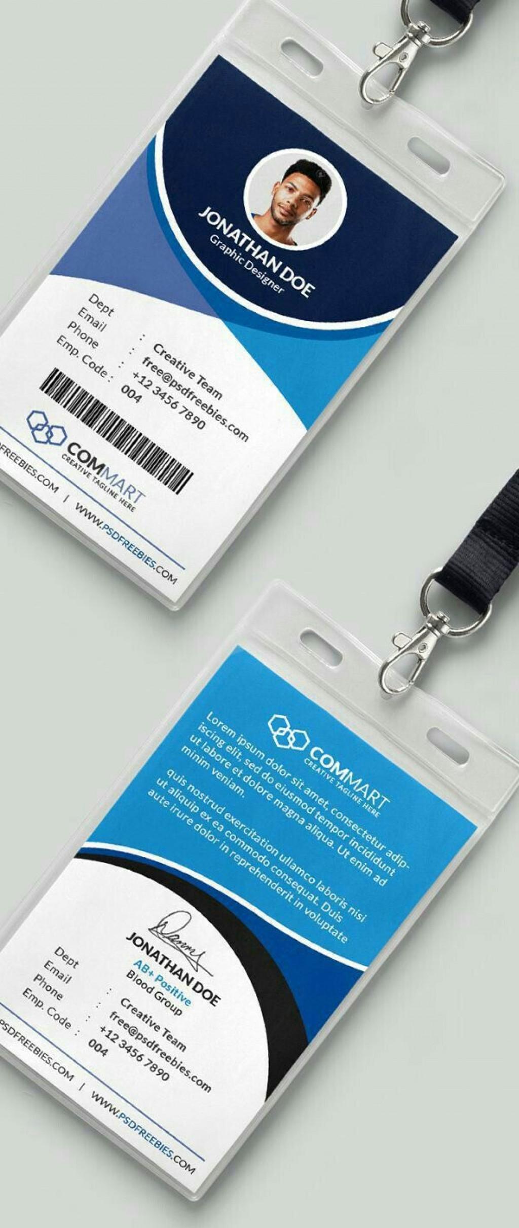 005 Striking Id Card Template Free Idea  Download Pdf DesignLarge
