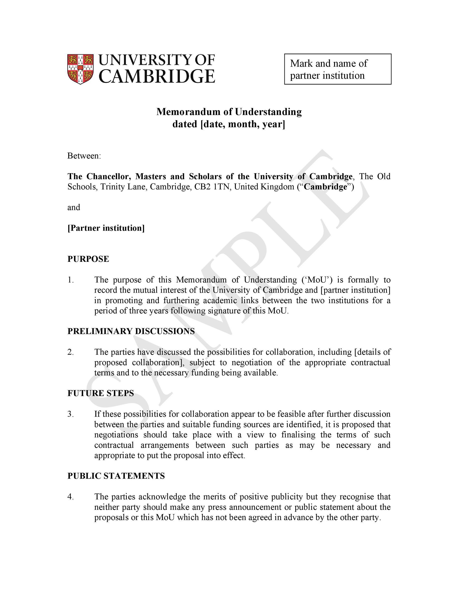 005 Striking Letter Of Understanding Sample Format Highest Clarity Full