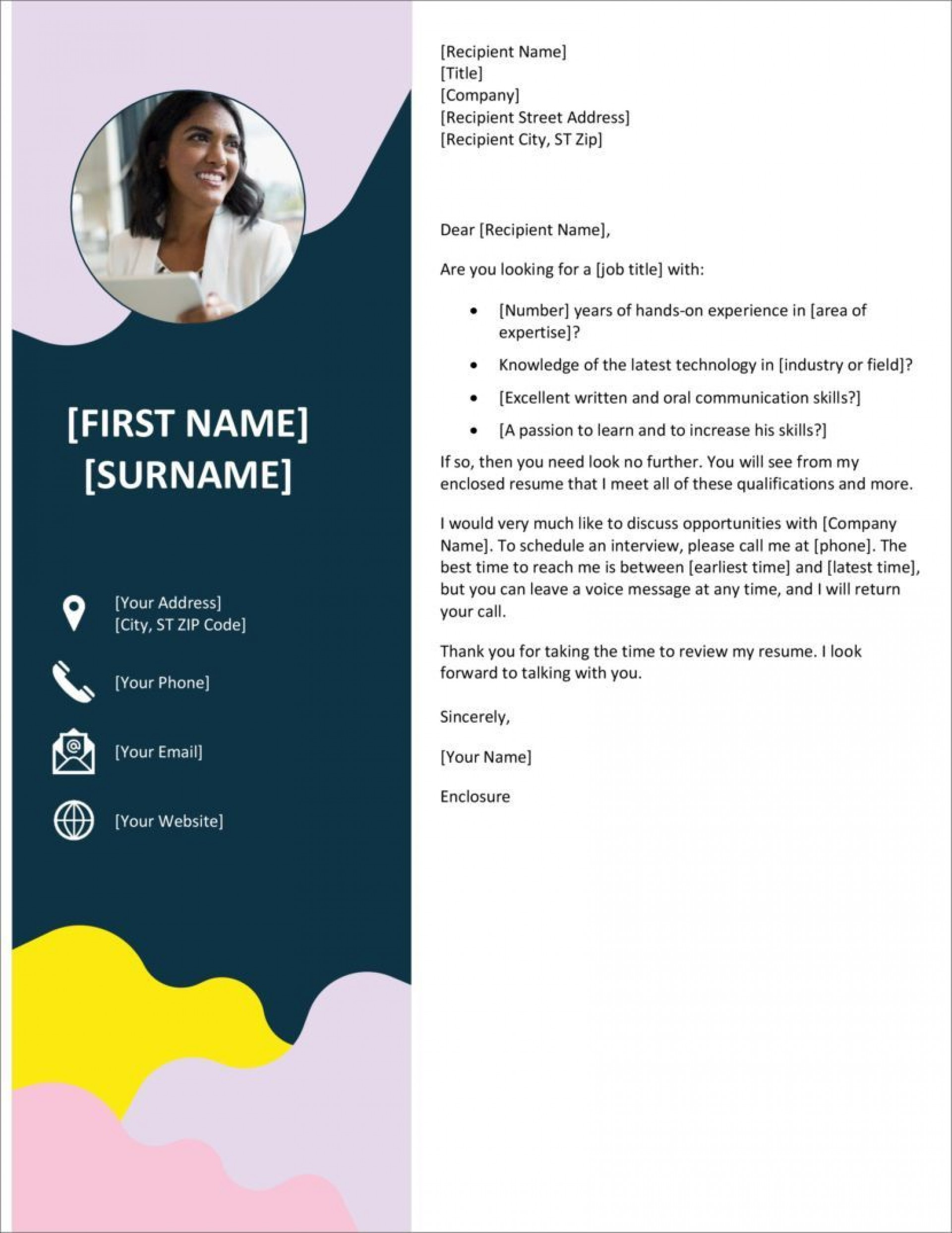 005 Striking Microsoft Cover Letter Template Download Inspiration  Word Free1920