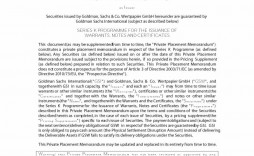 005 Striking Private Placement Memorandum Template Doc Photo