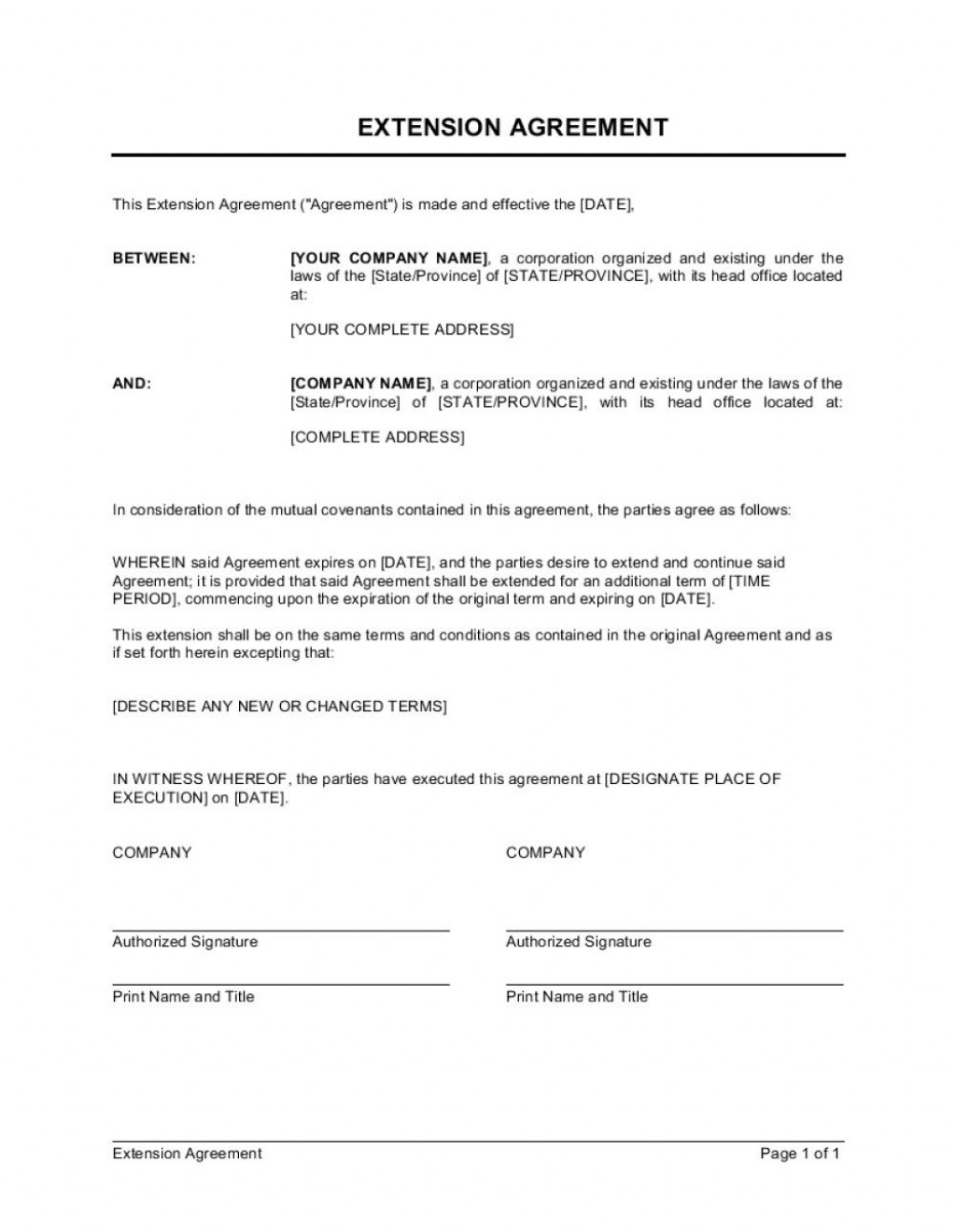 005 Striking Service Contract Template Doc Concept  Docx Simple Level AgreementLarge