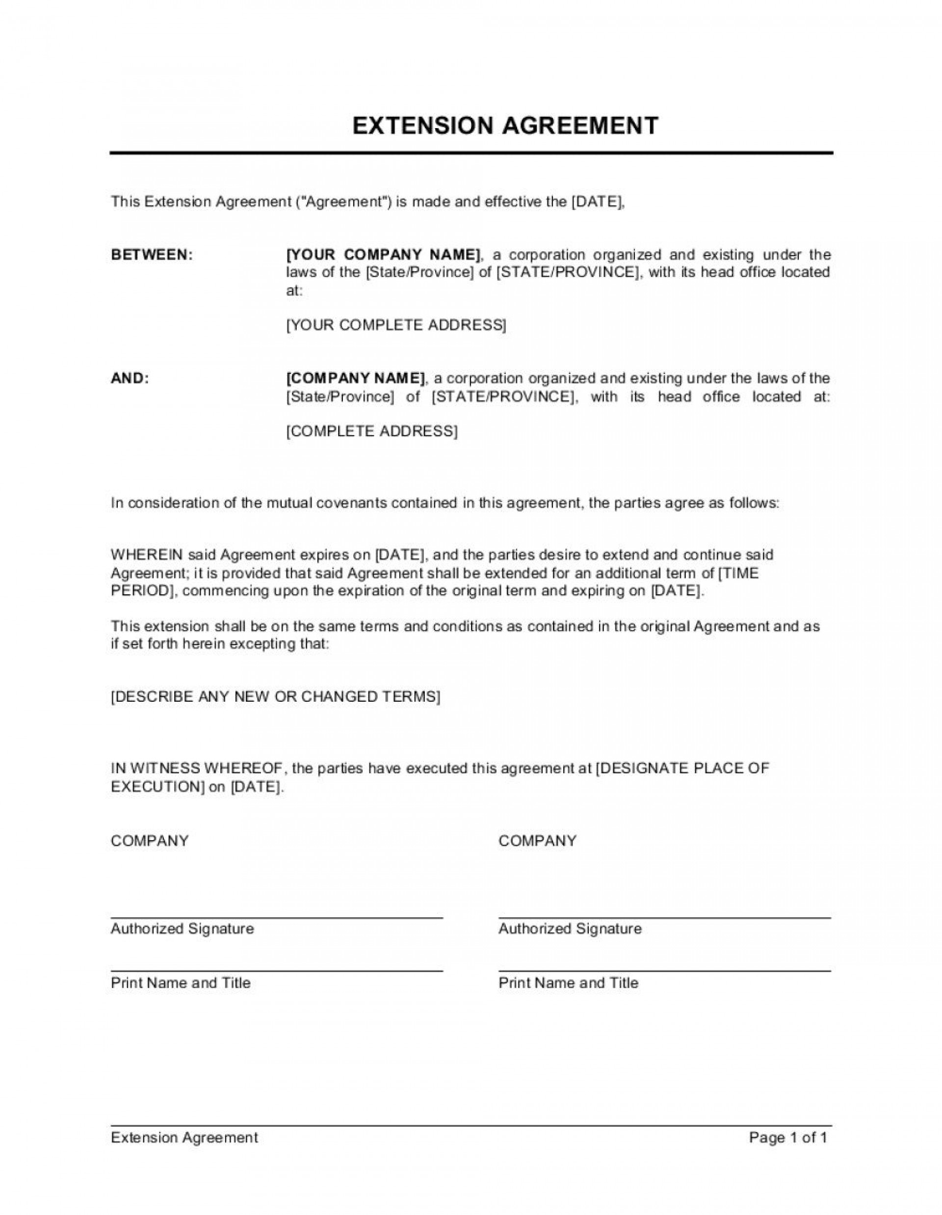 005 Striking Service Contract Template Doc Concept  Docx Simple Level Agreement1920