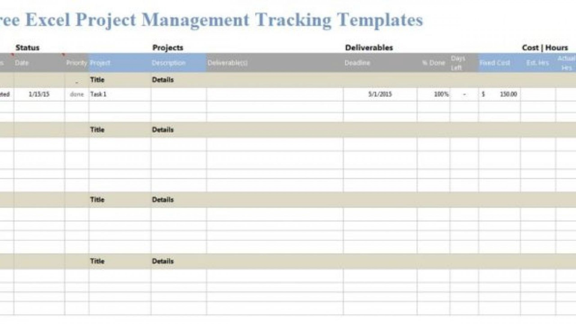 005 Striking Task Management Excel Template Concept  Free Download Employee Spreadsheet1920