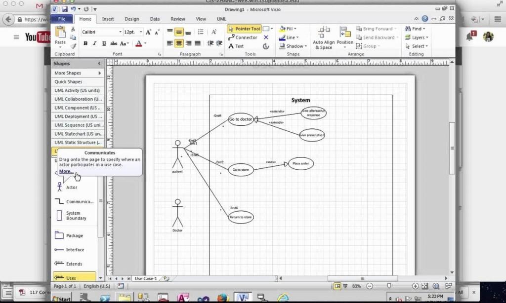 005 Striking Uml Diagram Template Visio 2010 Concept  Model Download ClasLarge
