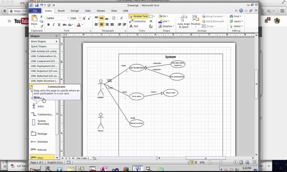 005 Striking Uml Diagram Template Visio 2010 Concept  Model Download ClasFull