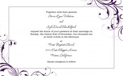 005 Striking Wedding Template For Word Highest Quality  Announcement Invitation Free Card M