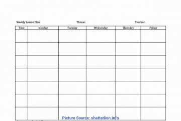 005 Striking Weekly Lesson Plan Template Highest Quality  Blank Free High School Danielson Google Doc360