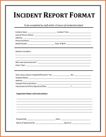005 Striking Workplace Injury Report Form Template Ontario Picture 360