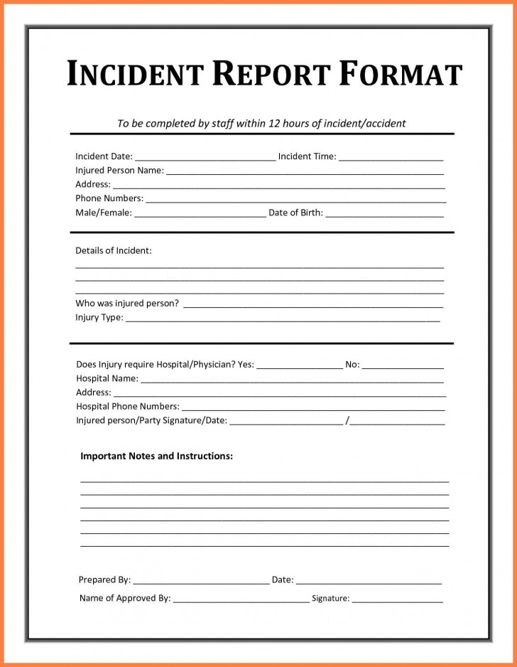 005 Striking Workplace Injury Report Form Template Ontario Picture 728