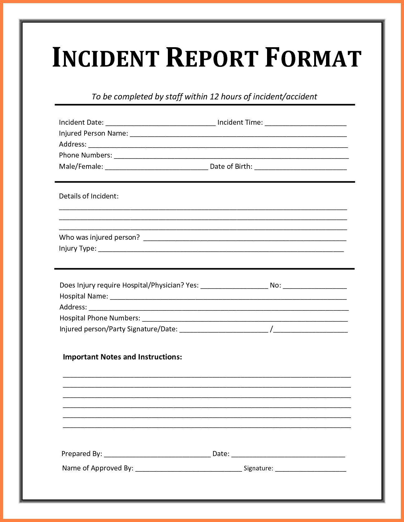 005 Striking Workplace Injury Report Form Template Ontario Picture Full