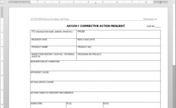 005 Stunning Corrective Action Form Template Highest Clarity  Free 8d Request Iso 9001 Employee
