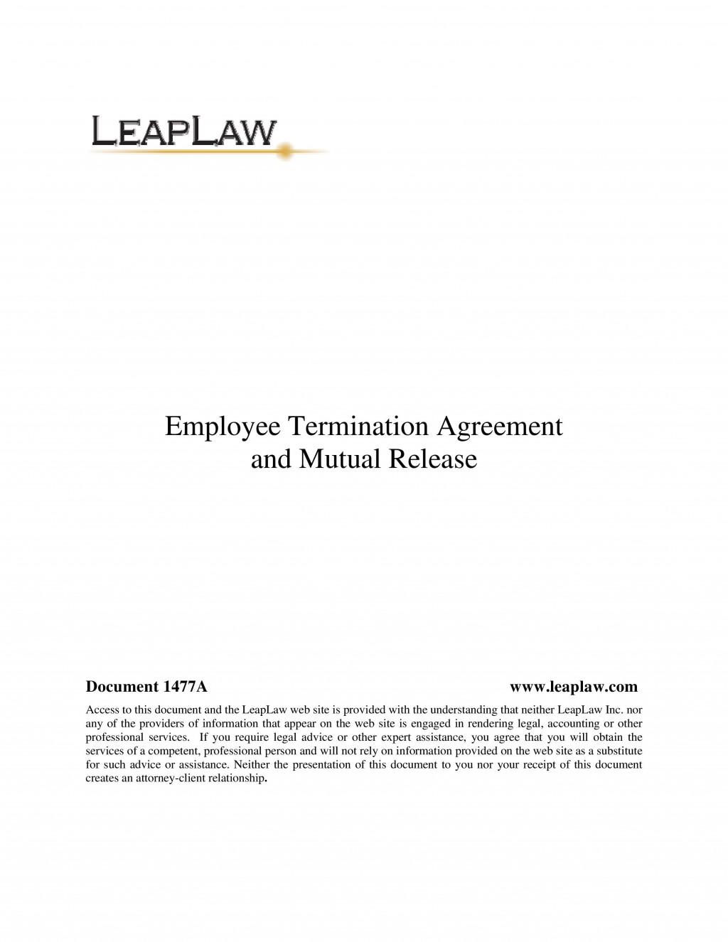 005 Stunning Employment Separation Agreement Template High Def  Nc Shrm Employee FloridaLarge