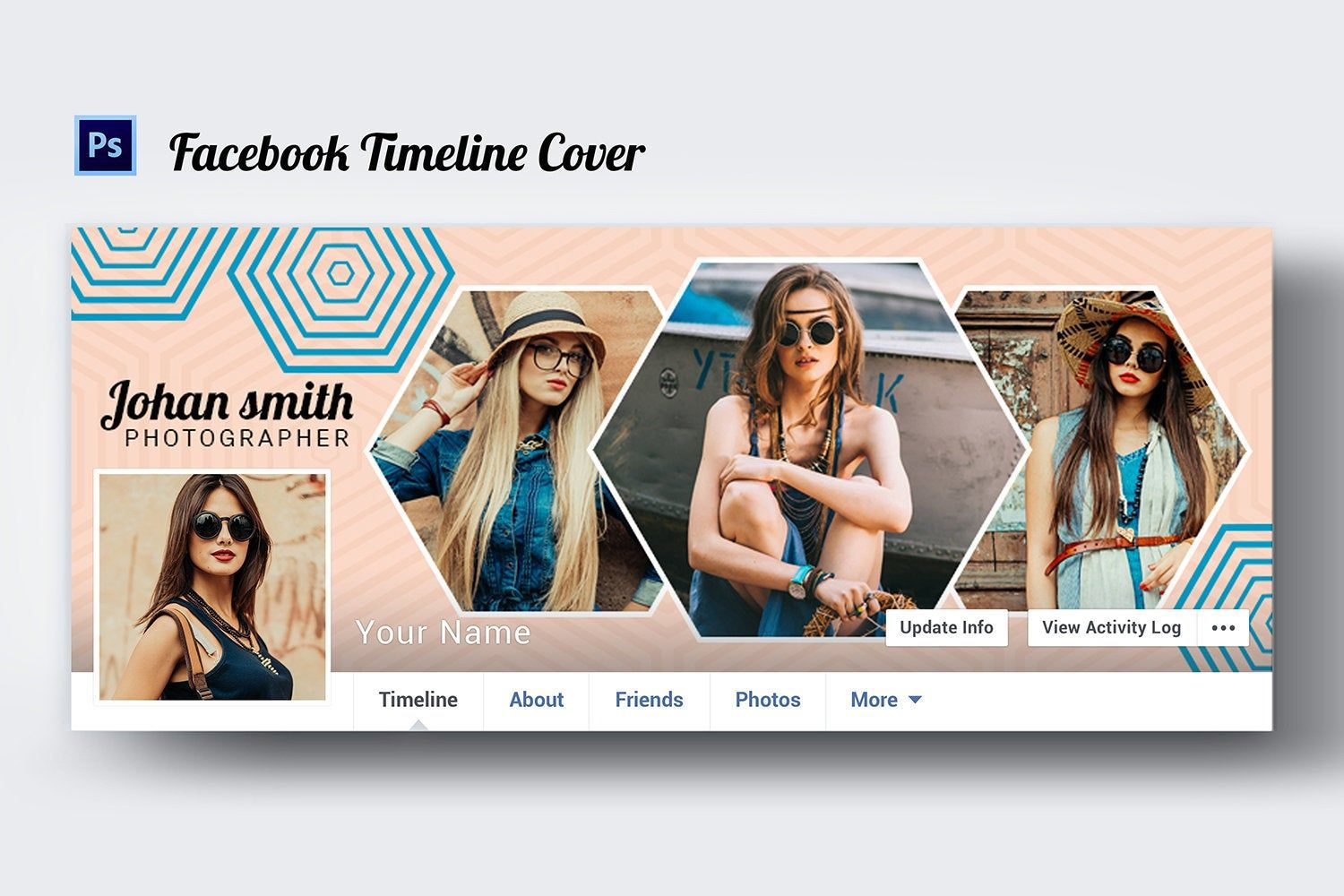 005 Stunning Facebook Cover Photo Photoshop Template Inspiration  2019 Page Profile Picture SizeFull