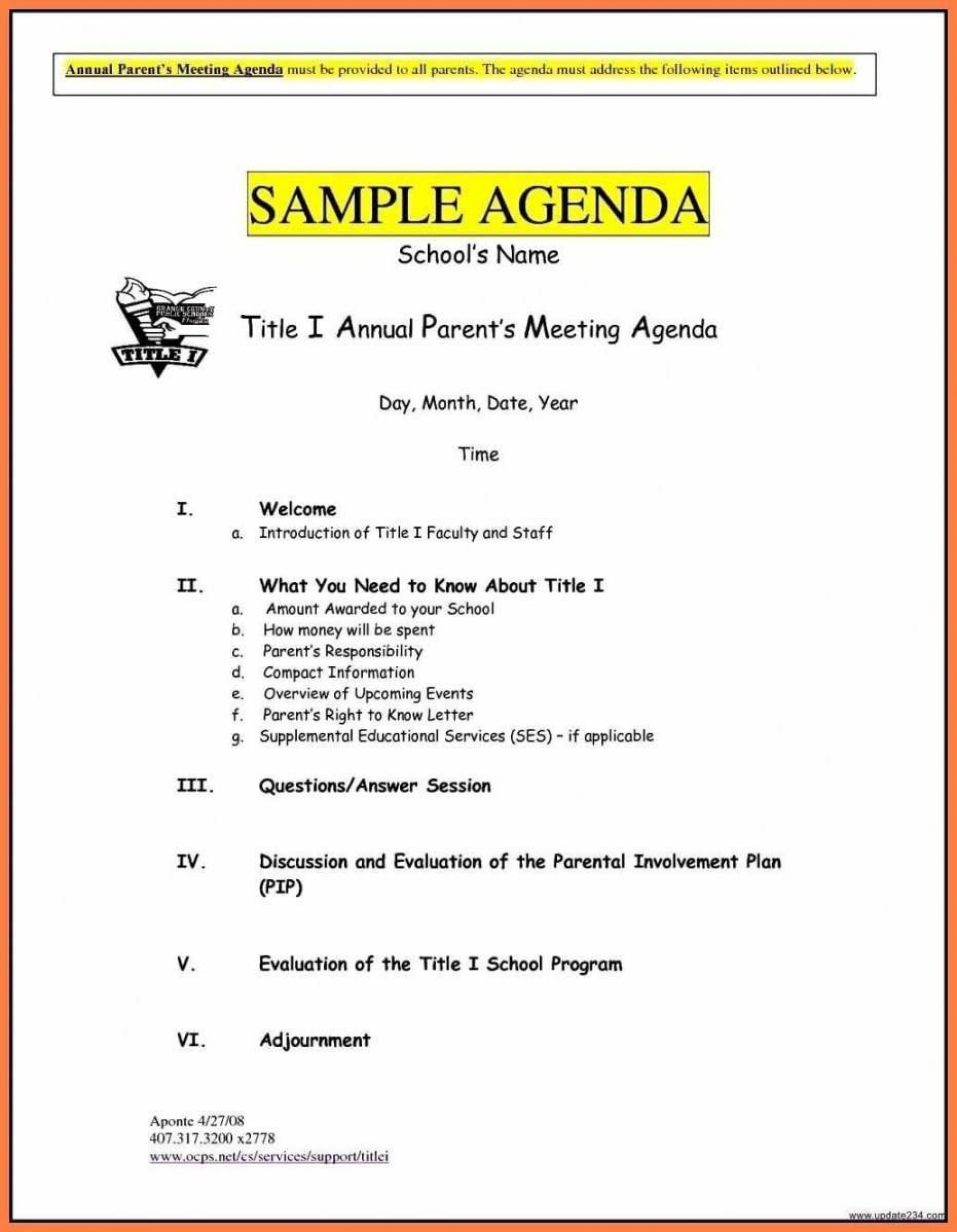 005 Stunning Formal Meeting Agenda Template Doc Picture 1920