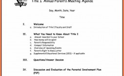 005 Stunning Formal Meeting Agenda Template Doc Picture