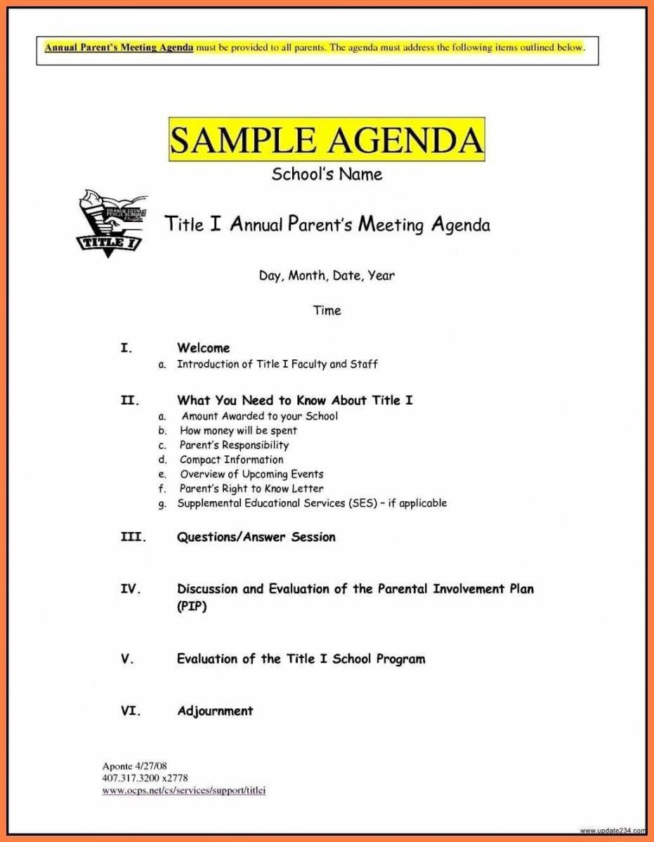 005 Stunning Formal Meeting Agenda Template Doc Picture Full