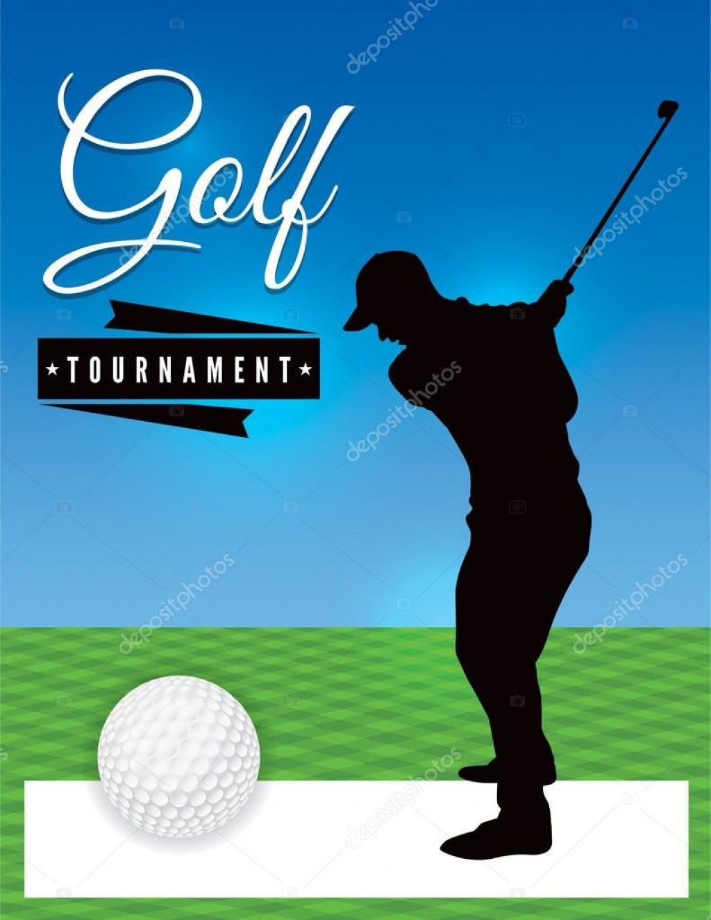 005 Stunning Free Charity Golf Tournament Flyer Template Design Large