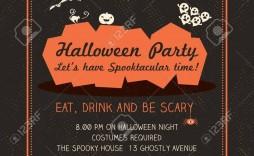 005 Stunning Halloween Party Invitation Template Example  Microsoft Block October