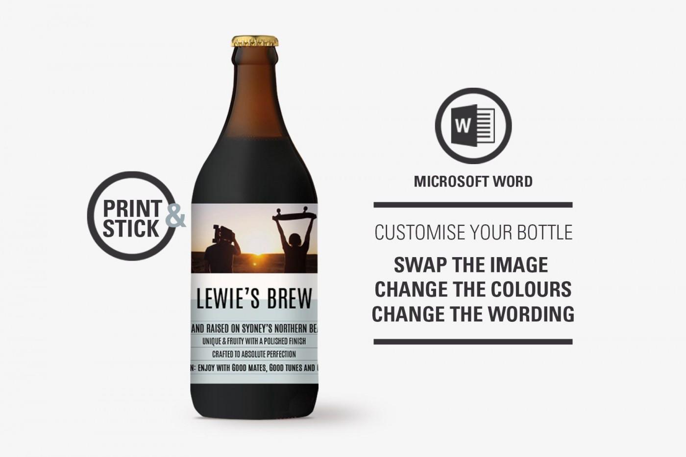 005 Stunning Microsoft Word Beer Label Template Sample  Bottle1400