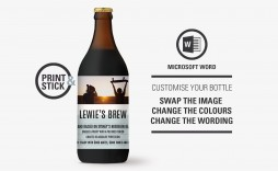 005 Stunning Microsoft Word Beer Label Template Sample  Bottle