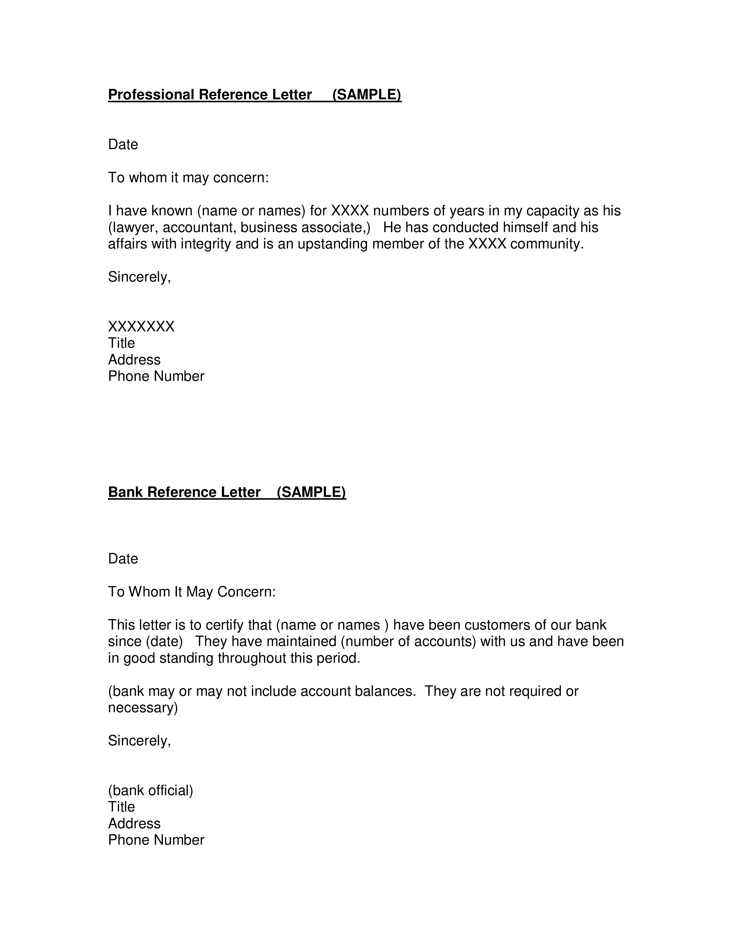 005 Stunning Professional Reference Letter Template Design  Doc Nursing FreeFull