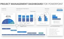 005 Stunning Project Management Dashboard Powerpoint Template Free Download Highest Quality