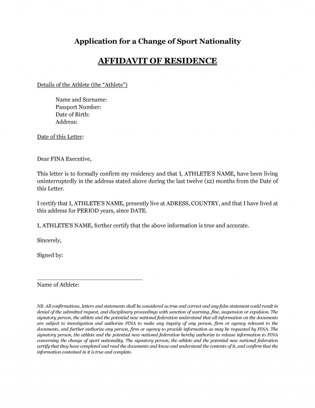 005 Stunning Proof Of Residency Letter Template Concept  Pdf From Landlord Family Member South AfricaLarge