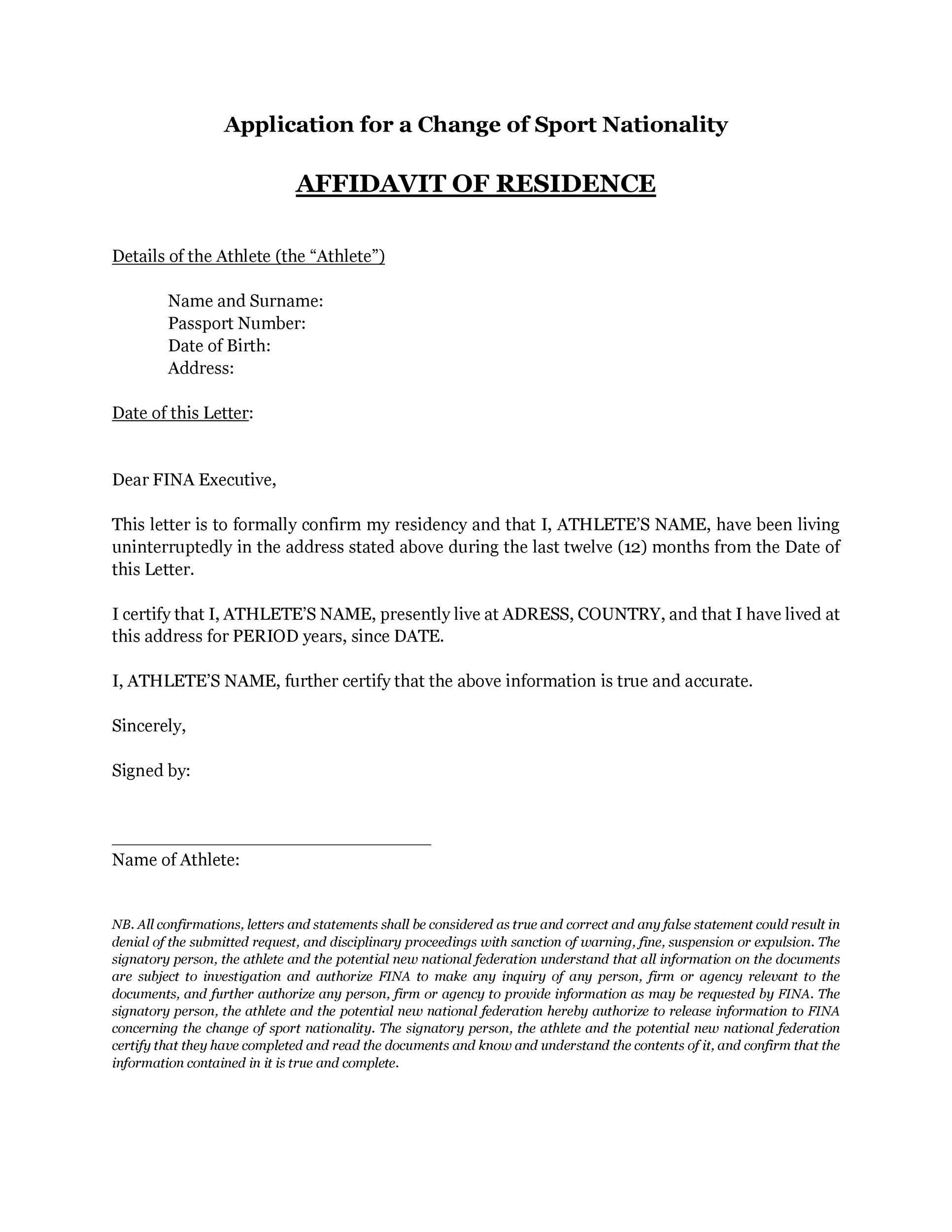 005 Stunning Proof Of Residency Letter Template Concept  Pdf From Landlord Family Member South AfricaFull