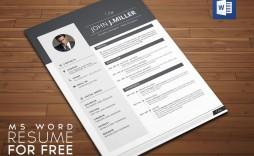 005 Stunning Resume Template Word Free Download 2018 Idea  Modern Cv