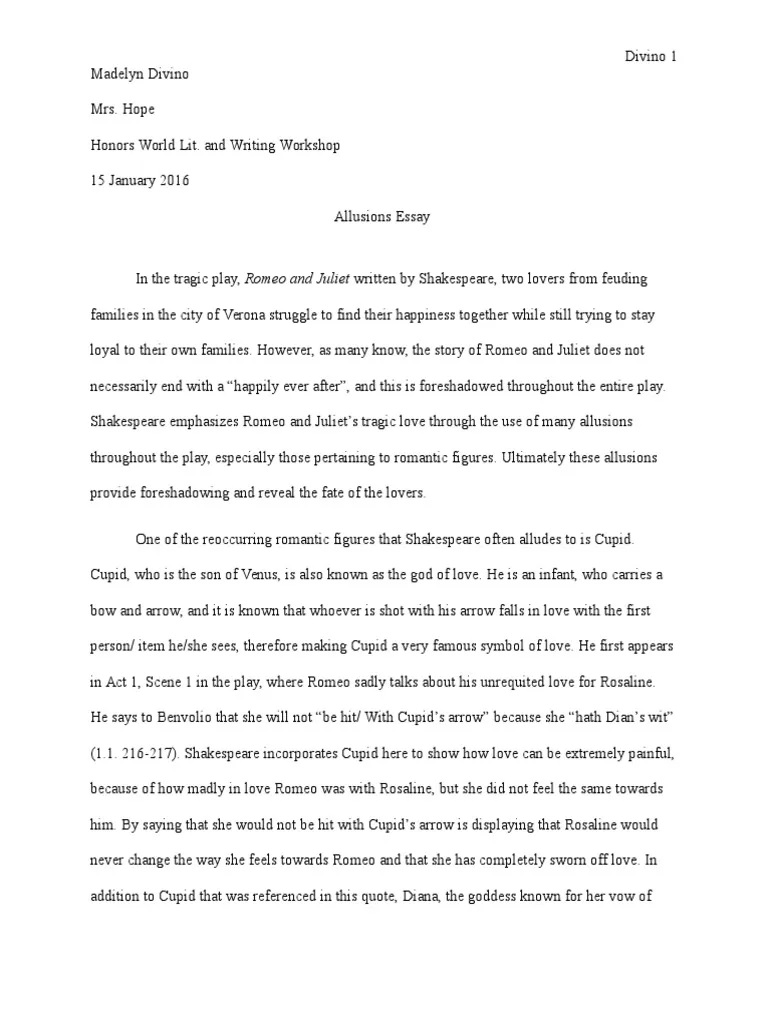 005 Stunning Romeo And Juliet Essay Inspiration  Who I Responsible For Juliet' Death Introduction Hook Question PdfFull