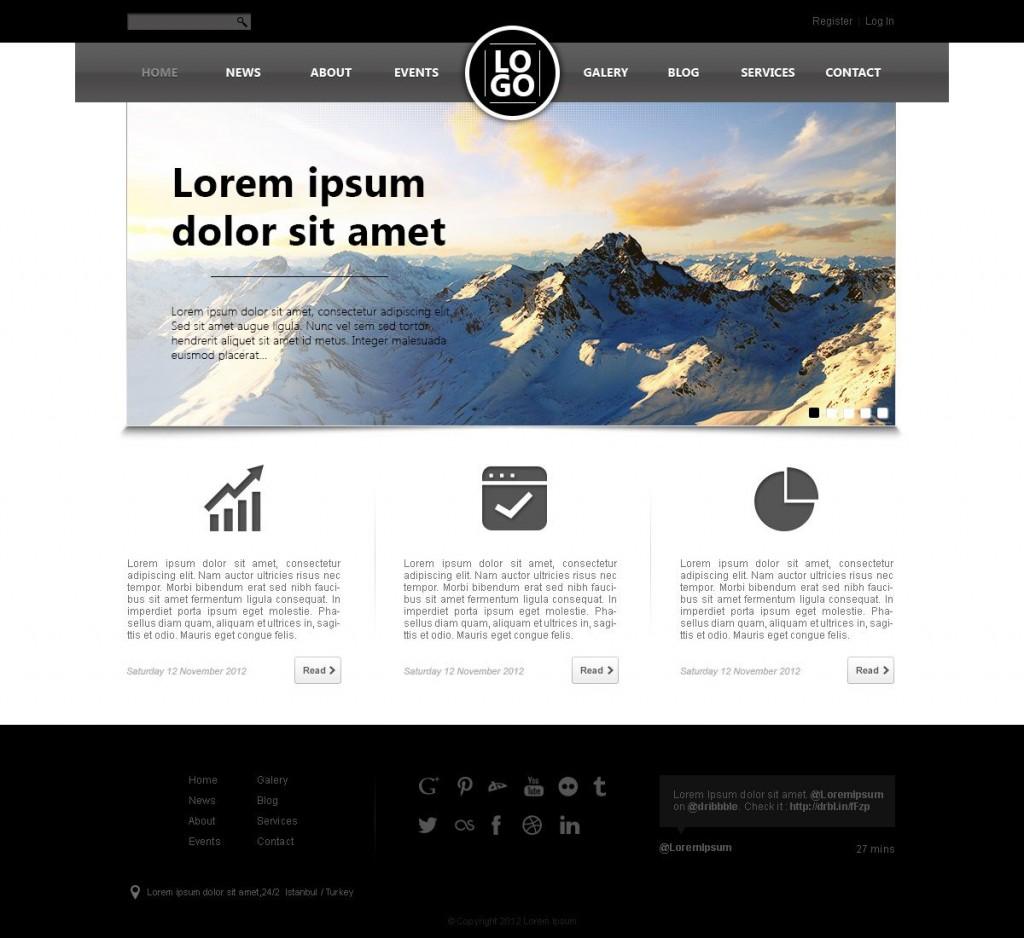 005 Stunning Website Design Template Free Photo  Asp.net Web Download PsdLarge
