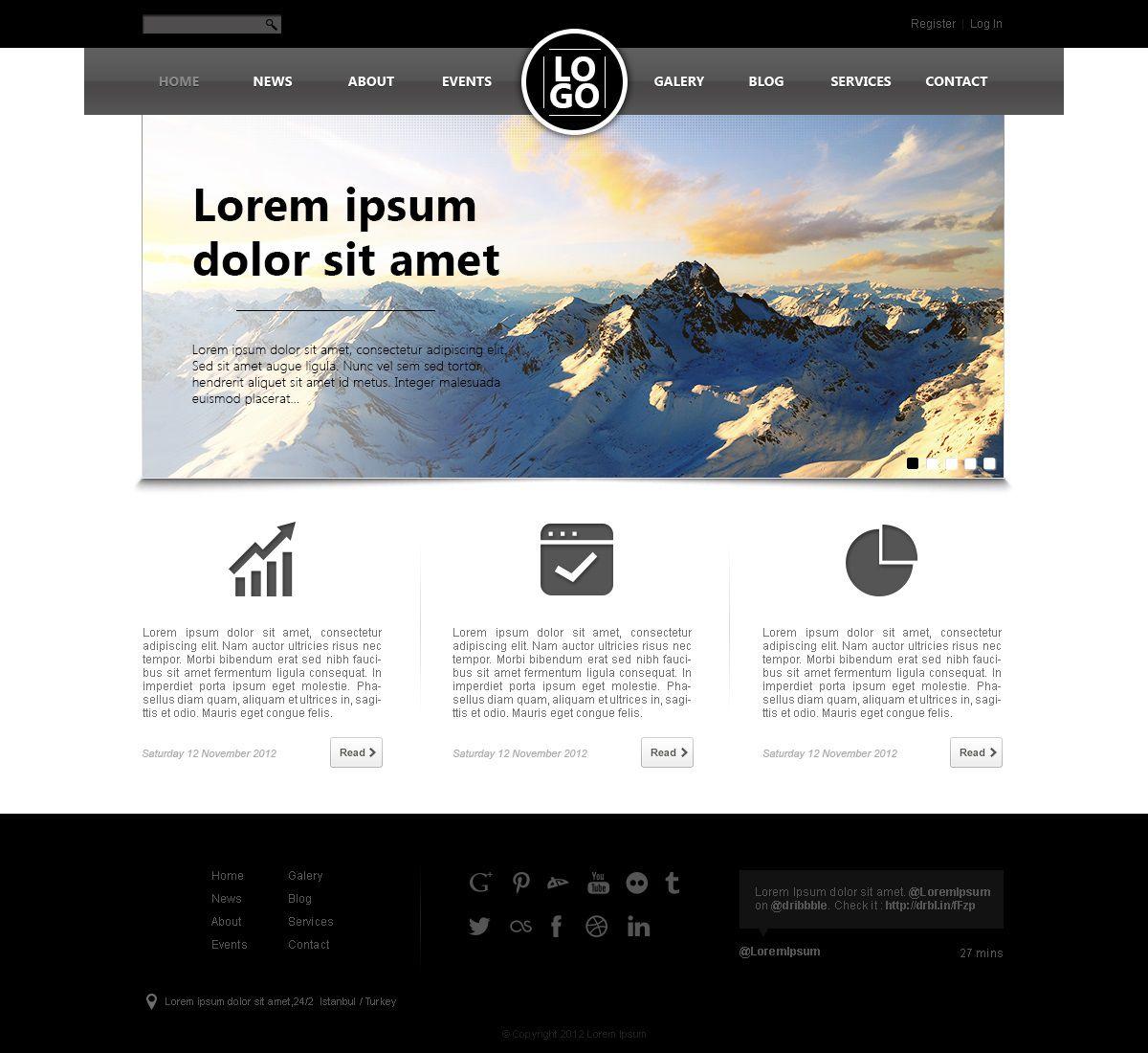 005 Stunning Website Design Template Free Photo  Asp.net Web Download PsdFull