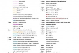 005 Stunning Wedding Day Itinerary Template Inspiration  Sample Excel Word