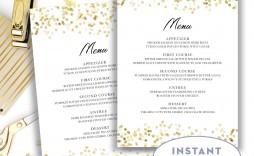 005 Stunning Wedding Menu Card Template Word High Resolution