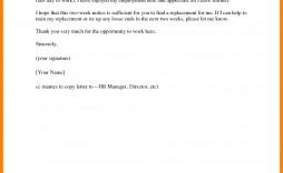 005 Stupendou 2 Week Notice Template Word Inspiration  Free Microsoft