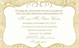 005 Stupendou 50th Wedding Anniversary Invitation Template Highest Quality  Templates Golden Uk Free Download