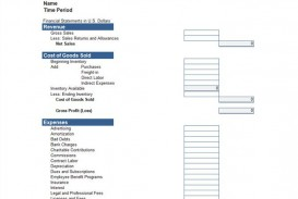 005 Stupendou Basic Profit And Los Template Idea  Free Simple Form Statement Excel For Self Employed